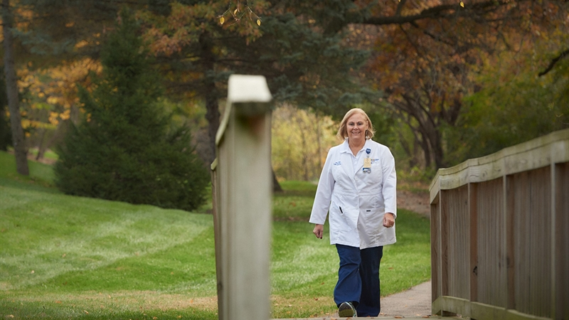 Tina, a MoBap cardiac surgery patient, has always been active and enjoys walking, biking and being outdoors.