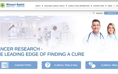 Thumbnail of landing page of the MoBap Cancer Research website